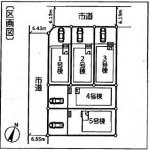 新潟市秋葉区下興野町の新築住宅の区画図