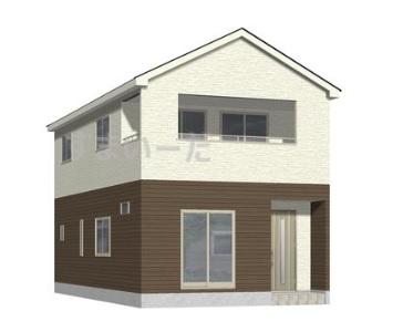 新潟市東区石山1号棟の新築住宅の外観完成予定パース