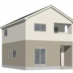 新発田市御幸町の新築住宅1号棟の外観パース