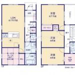 新潟市東区浜町2号棟の新築住宅の間取図