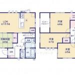 東区豊の新築住宅の1号棟間取図