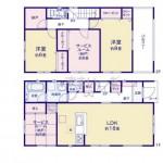 新潟市東区石山1号棟の新築住宅の間取図