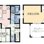新発田市御幸町の【新築住宅】1号棟の間取図
