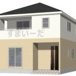 新潟市江南区横越川根町1丁目の新築住宅の2号棟外観完成予定パース