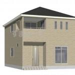 新潟市東区石山2号棟の新築住宅の外観完成予定パース