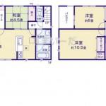 新潟市秋葉区下興野町の新築住宅5号棟の間取図