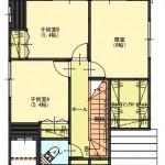 秋葉区山谷町土地の建物プラン例の2階間取り図