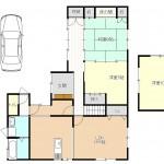 加茂市赤谷の中古住宅の間取り図