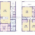 新潟市秋葉区下興野町の新築住宅2号棟の間取図