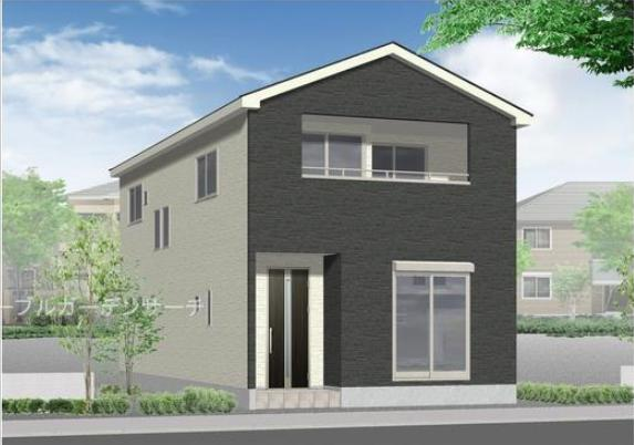 新潟市東区河渡の【新築住宅】1号棟の外観パース