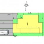 秋葉区山谷町土地の建物プラン例の配置図