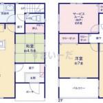 新潟市江南区横越川根町1丁目の新築住宅の2号棟間取図