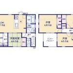 東区豊の新築住宅の2号棟間取図