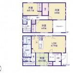 新潟市東区石山2号棟の新築住宅の間取図
