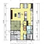 中央区東幸町土地の建物プラン例の2階間取り図