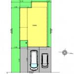 中央区東幸町土地の建物プラン例の1階間取り図