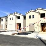 東区豊の新築住宅の1号棟外観完成予定パース
