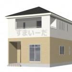 新潟市秋葉区下興野町の新築住宅1号棟の外観完成予定パース