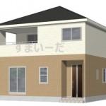 新潟市江南区横越川根町1丁目の新築住宅の1号棟外観完成予定パース