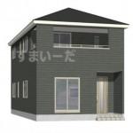 新潟市東区石山3号棟の新築住宅の外観完成予定パース