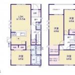 新潟市東区河渡の【新築住宅】1号棟の間取図