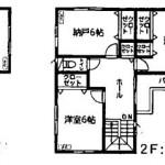 新潟市中央区鳥屋野(12号棟)の新築住宅の間取図