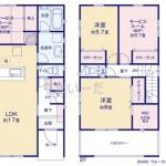 新潟市江南区横越川根町1丁目の新築住宅の3号棟間取図