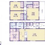 新潟市東区石山3号棟の新築住宅の間取図