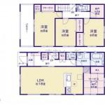 新潟市秋葉区下興野町の新築住宅4号棟の間取図