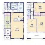 新潟市東区浜町1号棟 の新築住宅の間取図