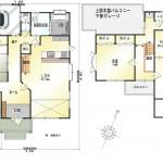 新潟市東区秋葉の中古住宅の間取図