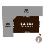 上越市春日野1丁目の土地の敷地図