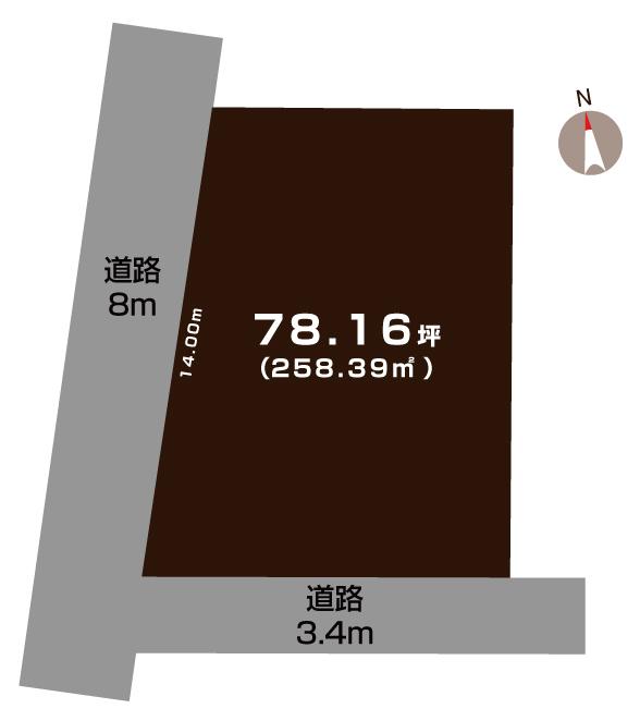 西蒲区栄の敷地図(敷地図)