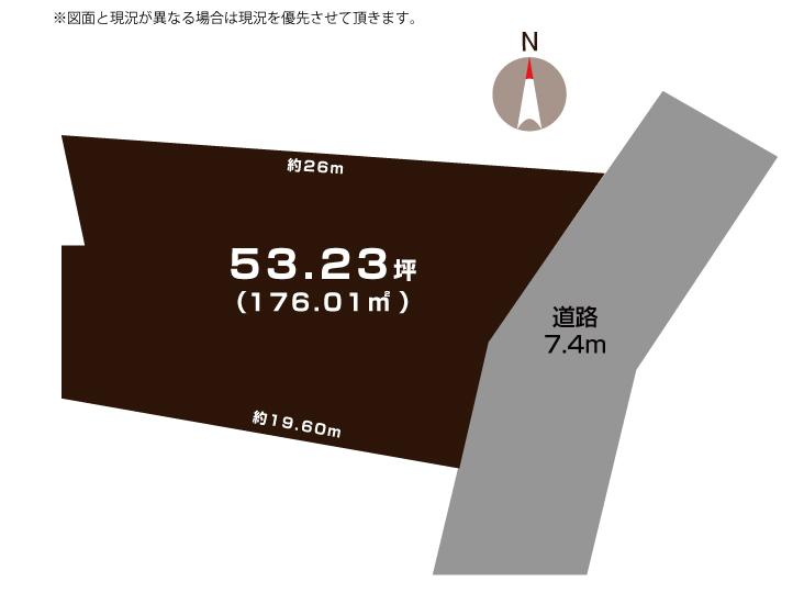 燕市灰方の敷地図(敷地図)