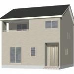 新潟市東区物見山の新築住宅1号棟の外観完成予定パース