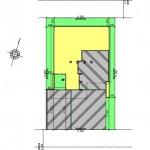 新潟市中央区鳥屋野の【土地】不動産情報の建物プラン例2(配置図)