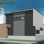 秋葉区中村の新築住宅の外観パース