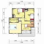 新潟市中央区鳥屋野の【土地】不動産情報の建物プラン例(2階平面図)