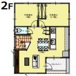 新潟市中央区鳥屋野の【土地】不動産情報の建物プラン例2(2階平面図)