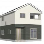 新潟市西区大野町の新築住宅1号棟の外観完成予定パース