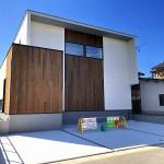 秋葉区中村の新築住宅の外観写真
