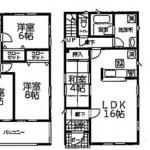 新潟市江南区曽野木の新築住宅2号棟の間取図