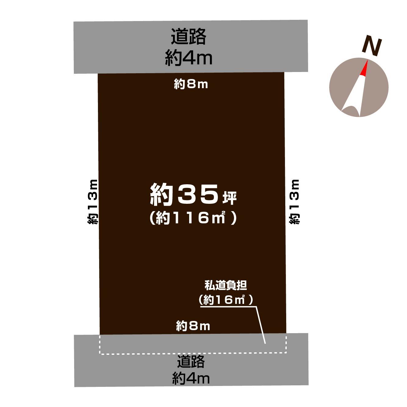 新潟市中央区鳥屋野の【土地】不動産情報の敷地図