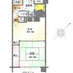 新潟市中央区川端町のマンションの間取図