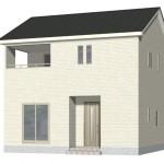 新潟市東区物見山の新築住宅2号棟の外観完成予定パース