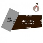 新潟市東区山木戸の土地の敷地図