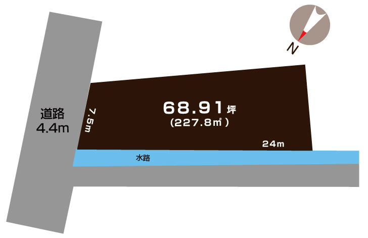 加茂市寿町の土地の敷地図