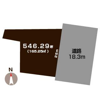 新潟市南区十五間の土地の敷地図