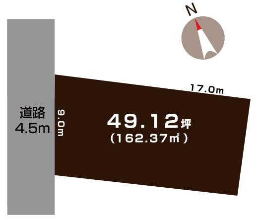 燕市吉田曙町の土地の敷地図