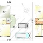 新潟市江南区横越上町の中古住宅の間取図